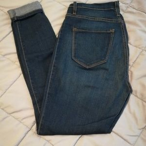 High Waisted Blue Jeans | Dark Wash